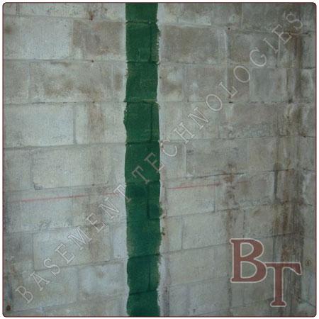 Carbon Fiber Basement Repair cinder block foundation - bowed wall repair service contractor