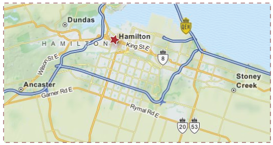 City of Hamilton Area Map