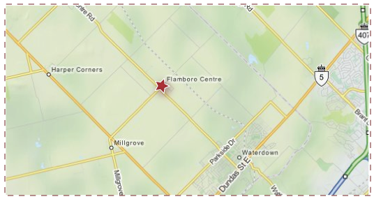 Town of Flamborough Service Area Map