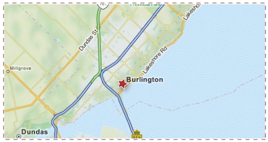 Burlington ON - Service Area Map