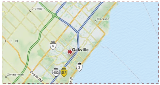 Oakville, ON - Service Area Map