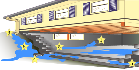 BT Damp Basement Illustration