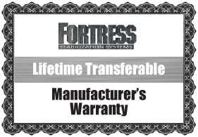 Fortress Stabilization Lifetime Warranty